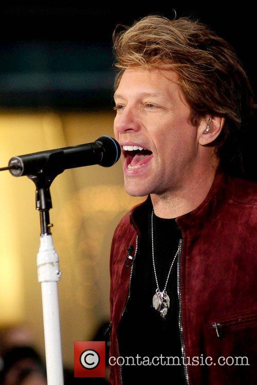 Bon Jovi performing live on the 'Today Show's...