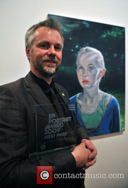 Winner Peter Morkman with his work 'Changeling 2'...