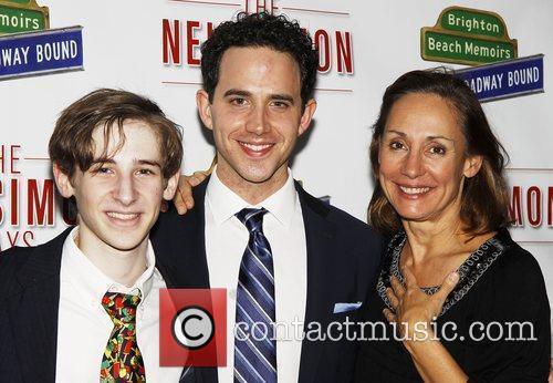 Noah Robbins, Santino Fontana and Laurie Metcalf Opening...