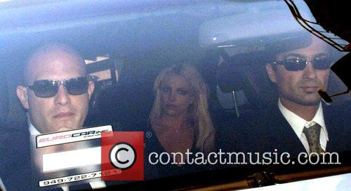 Britney Spears is picked up after showing up...