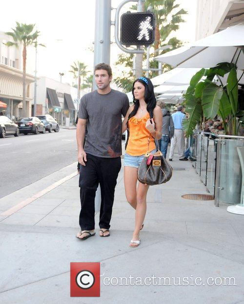 Brody Jenner and Jayde Nicole leaving a restaurant...