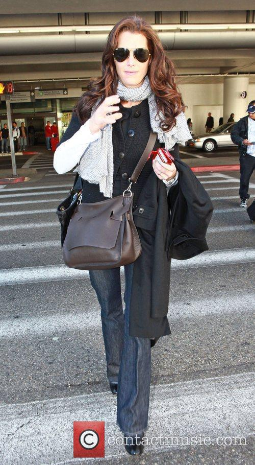 Brooke Shields  arriving at LAX - Los...