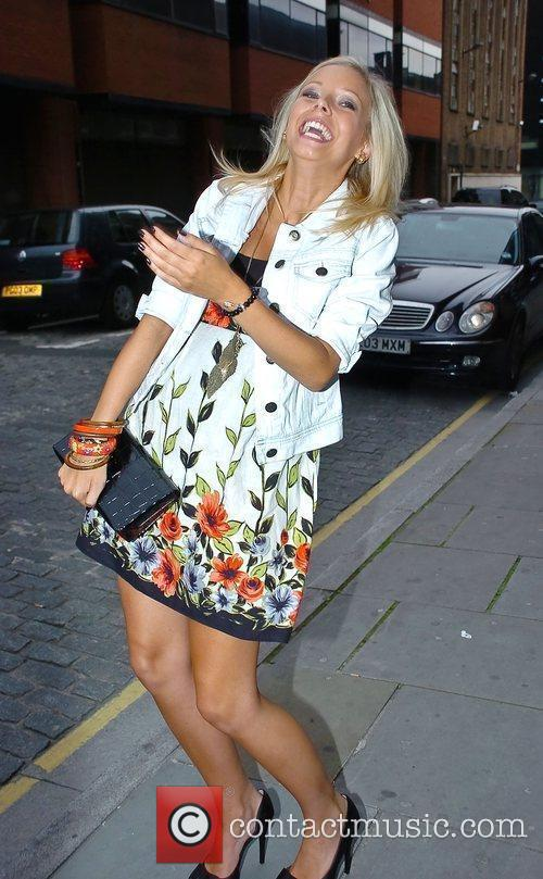 Sacha Parkinson arriving at Hooka's 2nd anniversary party...