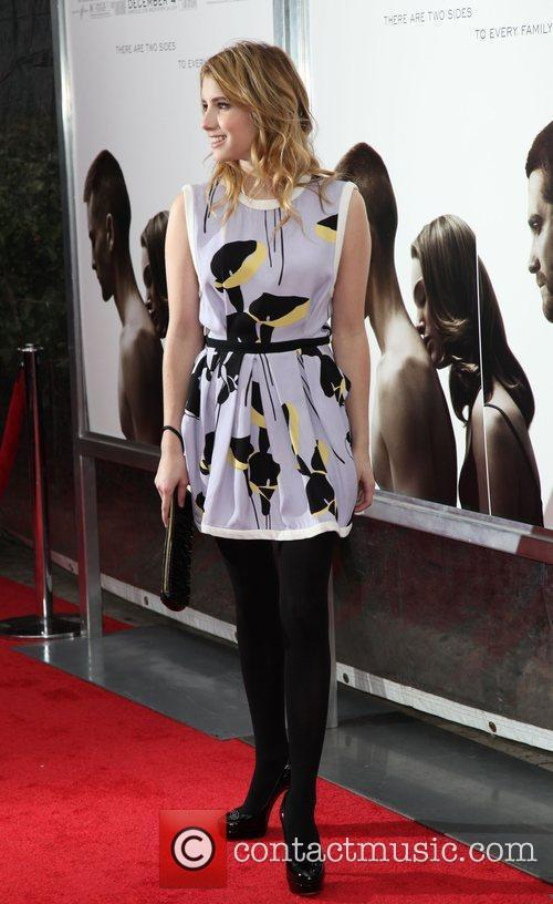 Emma Roberts The Cinema Society, Details and DKNY...
