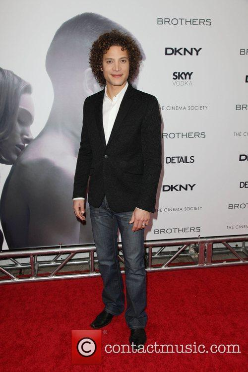 Justin Guarini The Cinema Society, Details and DKNY...