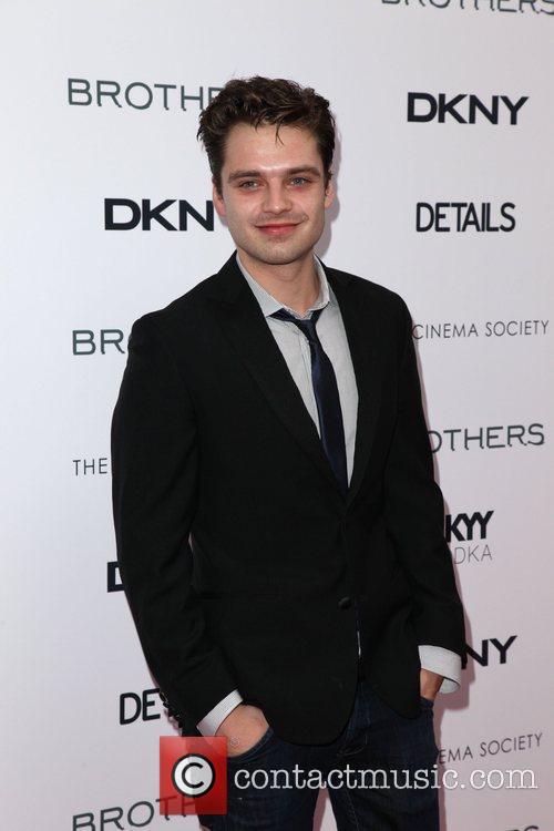 Sebastian Stan The Cinema Society, Details and DKNY...