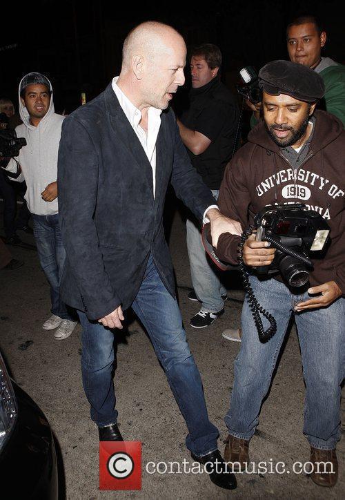 Bruce Willis leaving Madeo restaurant Los Angeles, California