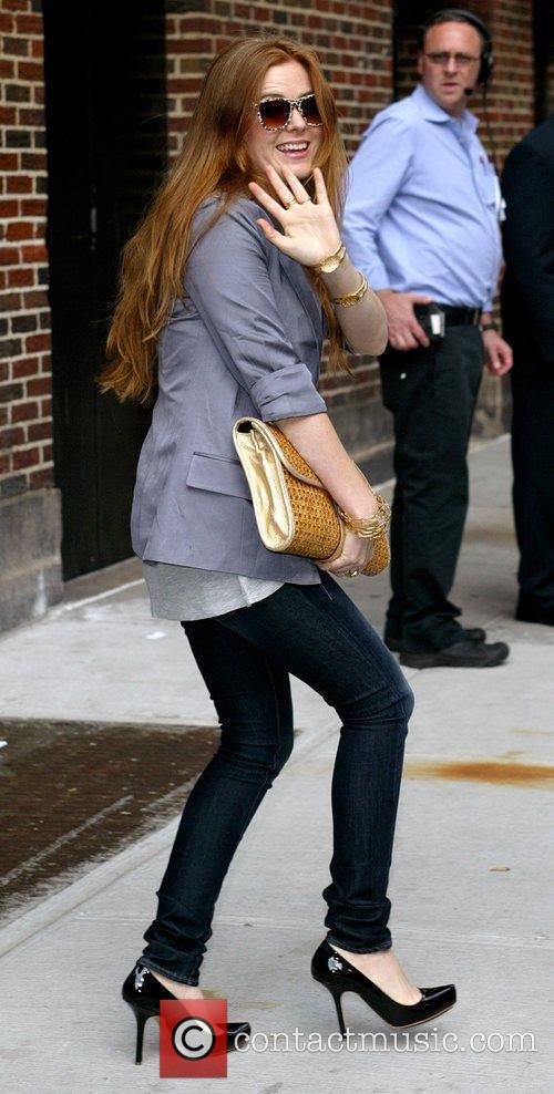 Isla Fisher, David Letterman and Ed Sullivan Theatre 1
