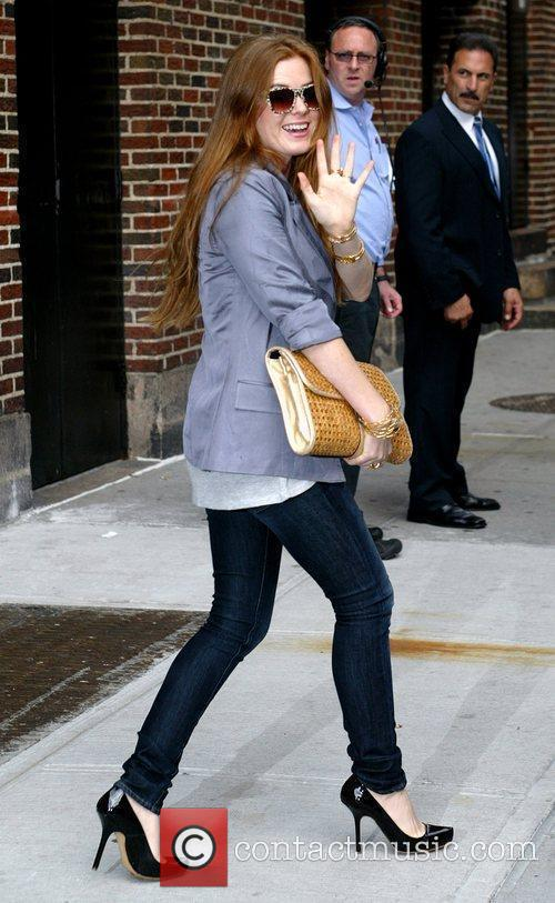Isla Fisher, David Letterman and Ed Sullivan Theatre 3
