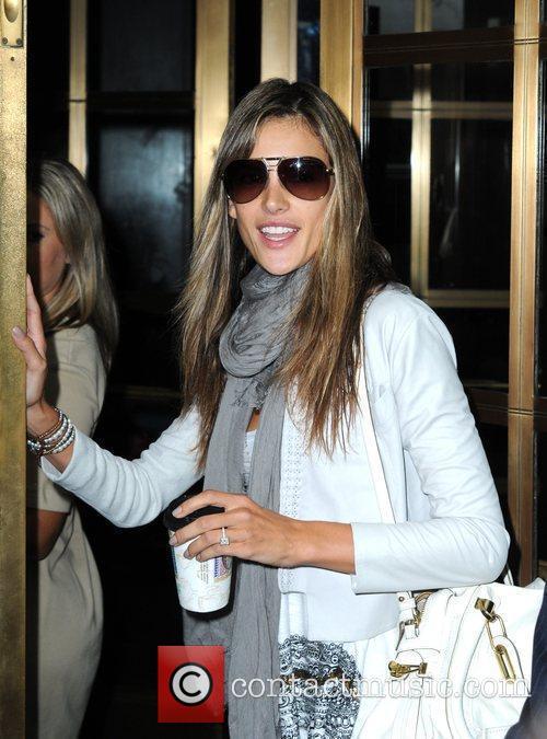 Alessandra Ambrosio Arriving At Bryant Park 2