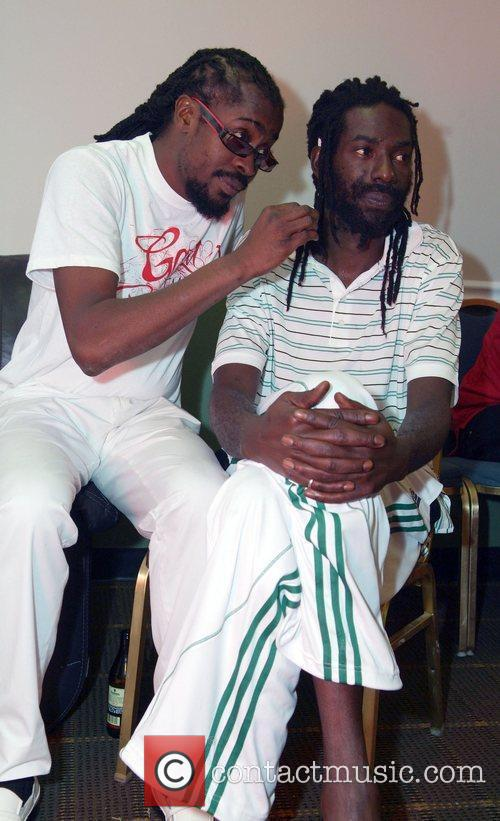 Backstage at Reggae Bash 2009 in the James...