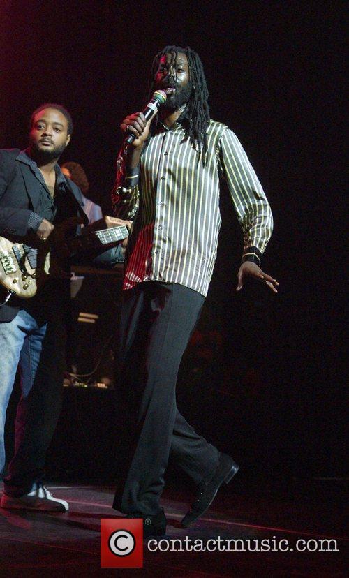 Reggae singer Buju Banton performing live at Reggae...