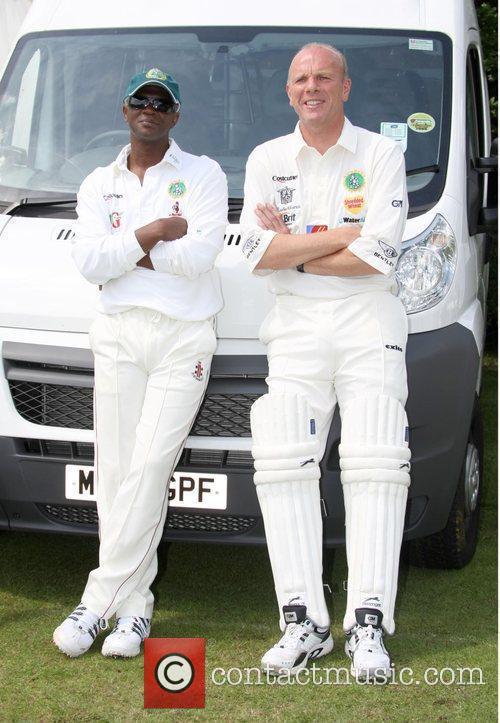 Paul Davis, Steve Bennett Charity cricket match between...