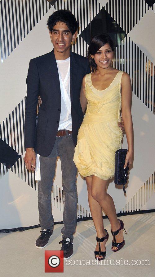 Dev Patel and Freida Pinto at the Burberry...