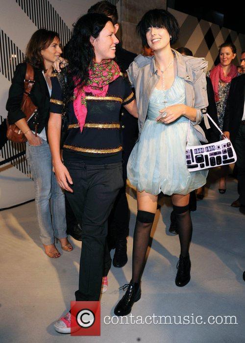 Agyness Deyn and guest 25th anniversary London Fashion...