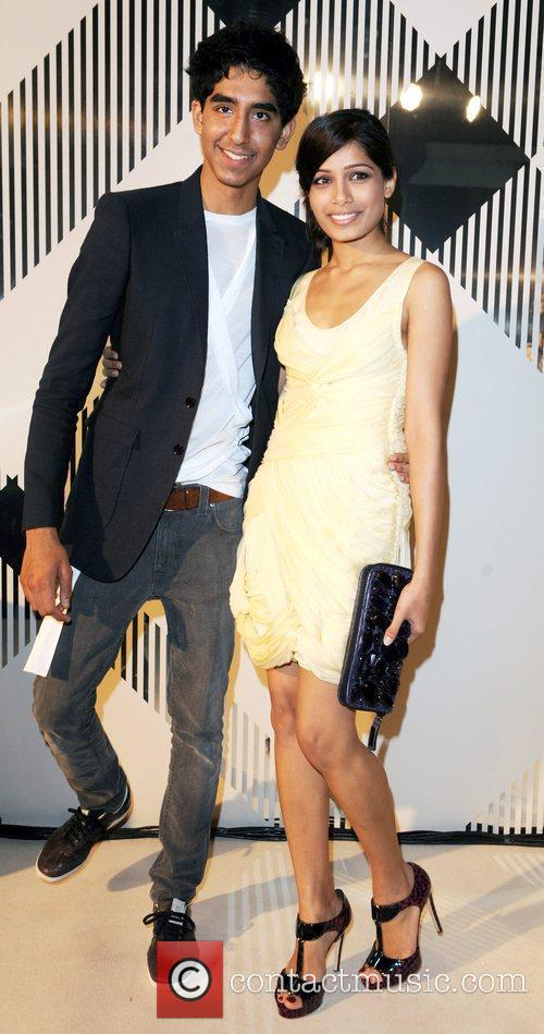 Dev Patel and Freida Pinto 25th anniversary London...