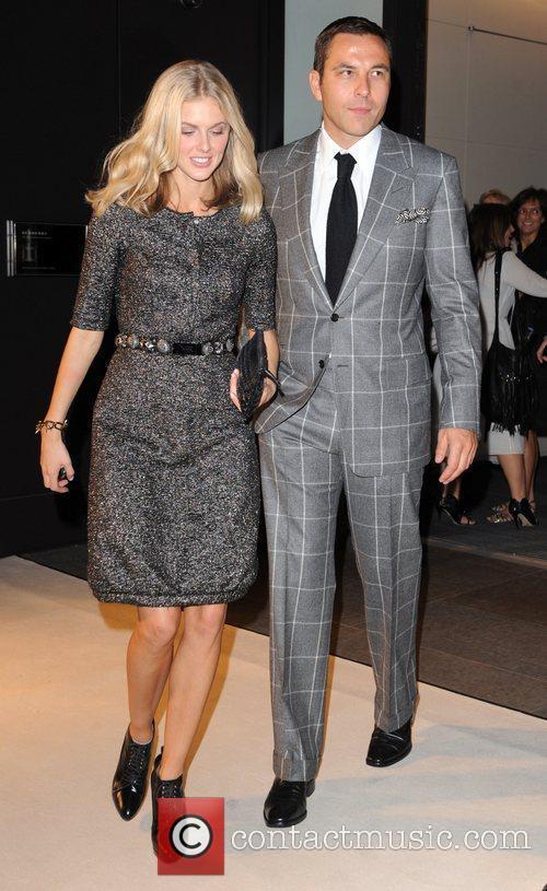 Donna Air and David Walliams 25th anniversary London...