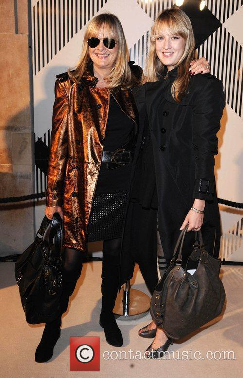 Twiggy and guest 25th anniversary London Fashion Week...