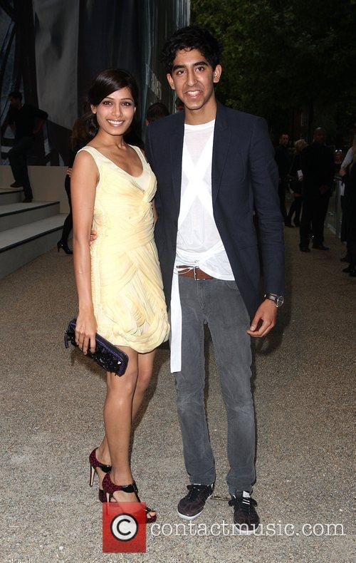 Freida Pinto and Dev Patel Burberry Closing Party...