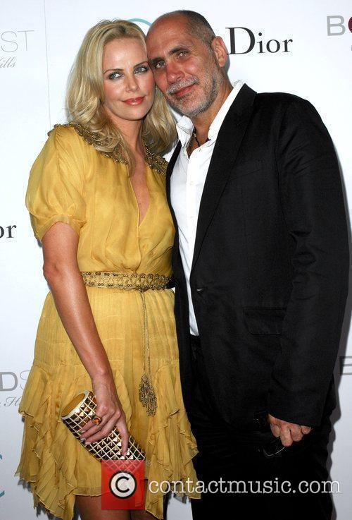 Charlize Theron and Director Guillermo Arriaga Premiere of...