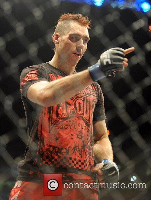 Fight winner Dan Hardy of Nottingham The Ultimate...