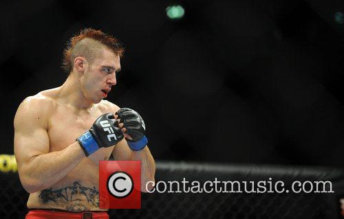 Winner Dan Hardy of Nottingham The Ultimate Fighting...