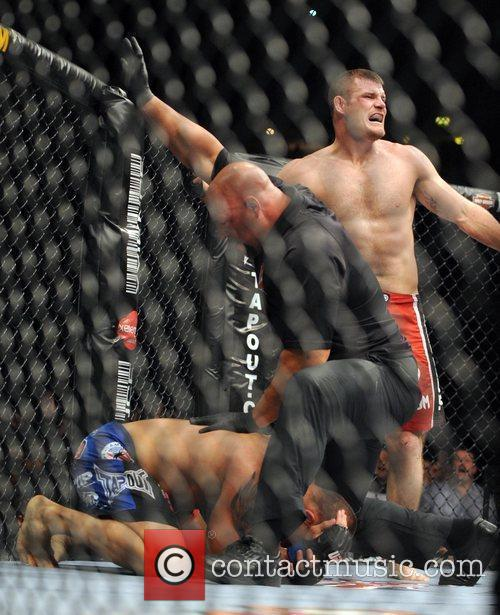 Winner Michael Bisping of Manchester, UK fighting Denis...