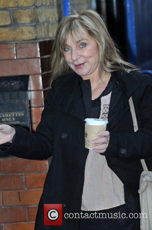 Helen Lederer leaving the Noel Coward Theatre, where...
