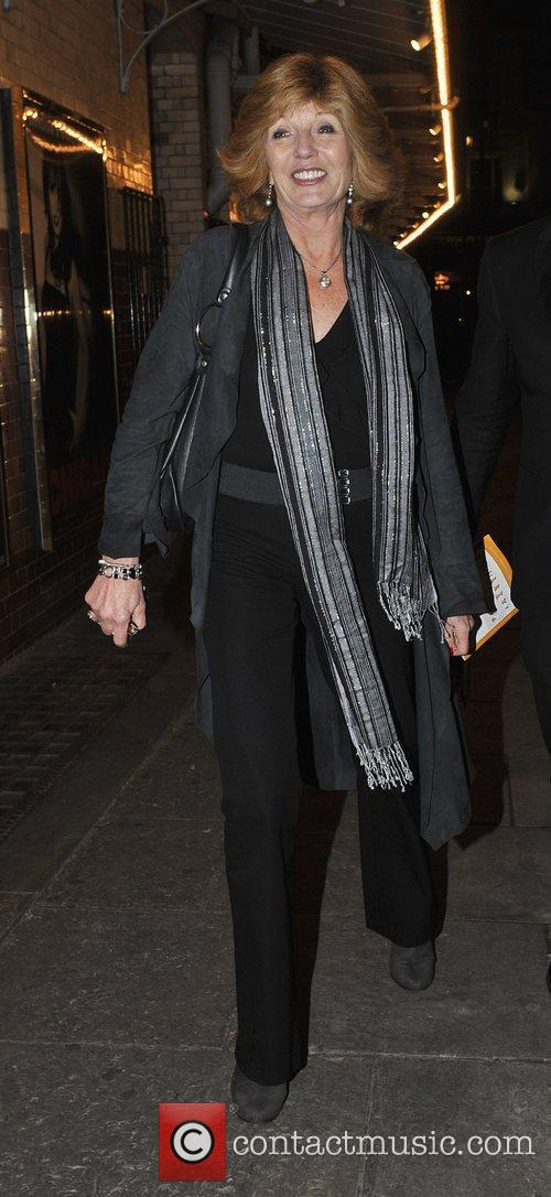 Leaving the Noel Coward Theatre after appearing in...