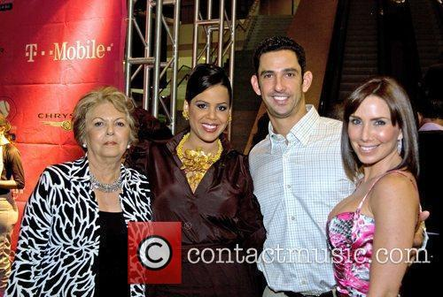 Jessica Beltran, Jorge Posada and Laura Posada with...