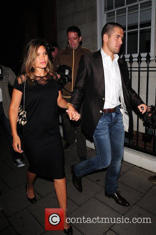 Carly Zucker and Joe Cole leaving Cipriani restaurant...