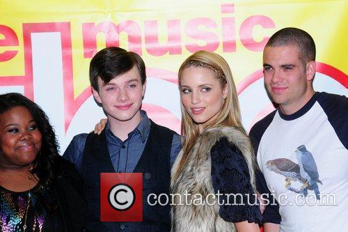 Amber Riley, Chris Colfer, Dianna Agron and Mark...