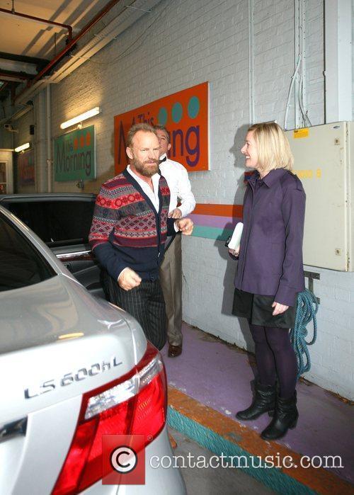 Gordon Sumner aka Sting arrives at the GMTV...