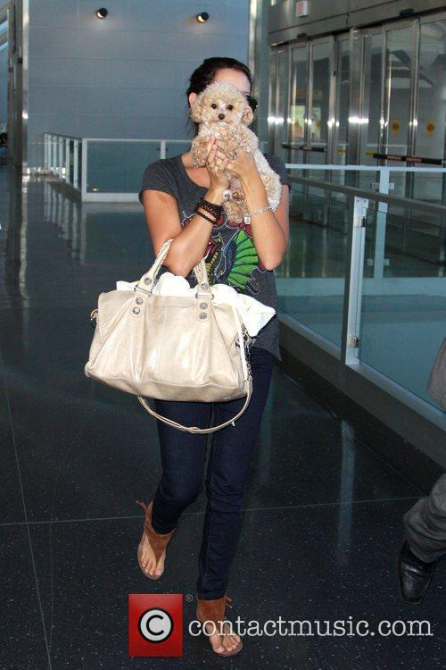 Ashley Tisdale and Her Dog Maui 1