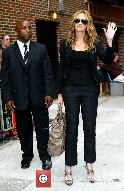 Julia Roberts and David Letterman 2
