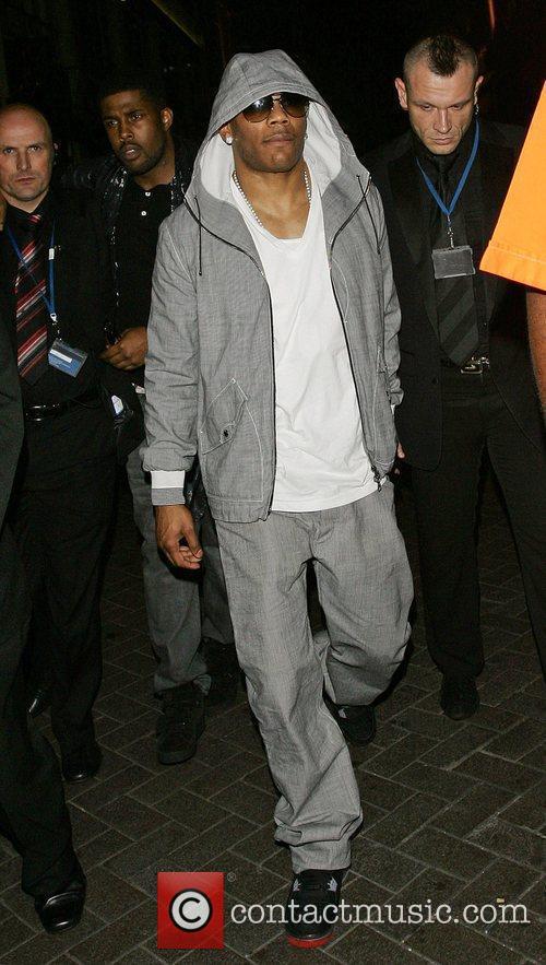Nelly leaves Alto nightclub London, England