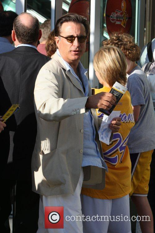 Andy Garcia,  arrive for the first game...
