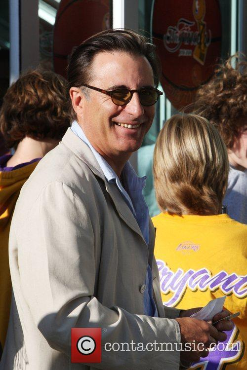 Andy Garcia,  arrives for the first game...