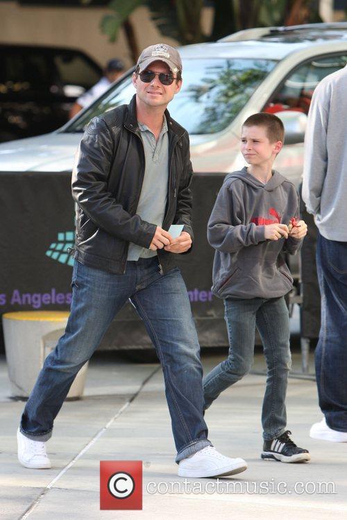 Christian Slater and His Son Jaden 4