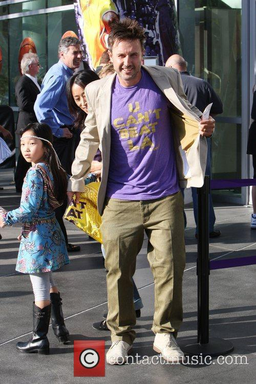 David Arquette,  arrives for the first game...