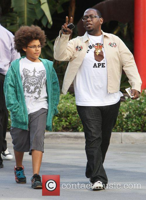 Randy Jackson and his son Jordan Jackson,...