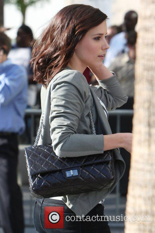 Sophia Bush,  arrives for the first game...