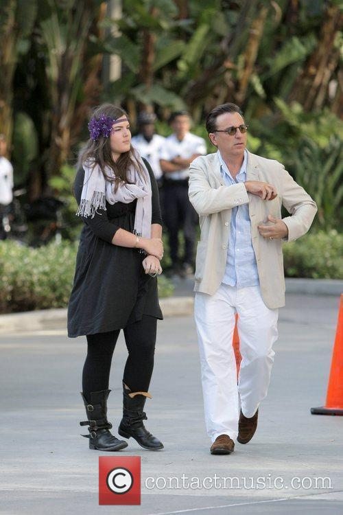 Andy Garcia and guest arriving at the first...