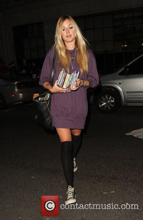 Fearne Cotton leaving Radio 1 Studios after presenting...