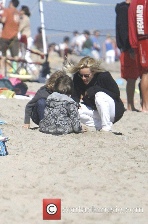 Jenny McCarthy enjoying a day at the beach