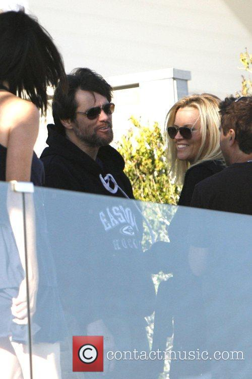 Jim Carrey at the beach with Jenny McCarthy