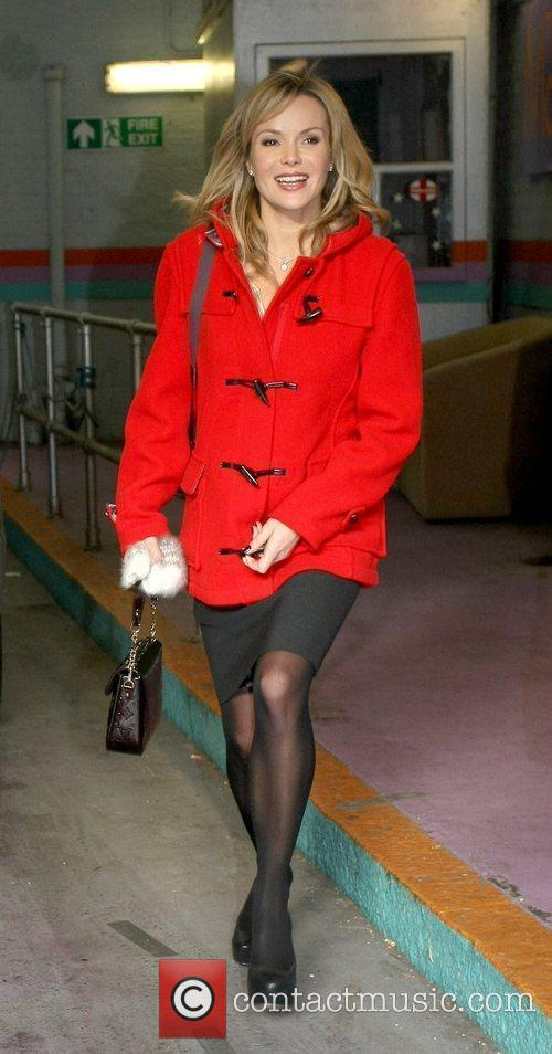 Amanda Holden Celebrities outside the ITV television studios....