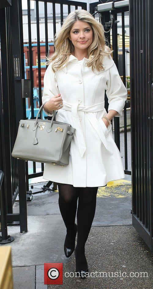 Holly Willoughby Celebrities outside the ITV television studios....