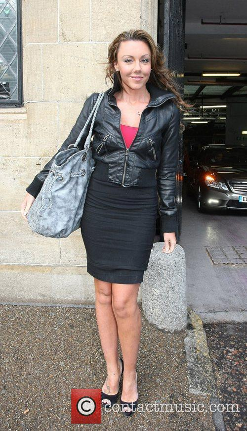 Michelle Heaton Celebrities outside the ITV television studios....
