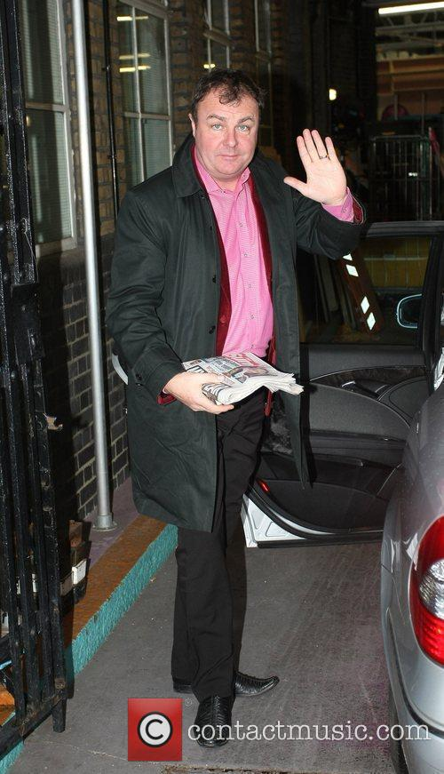 Paul Ross Celebrities outside the ITV television studios....